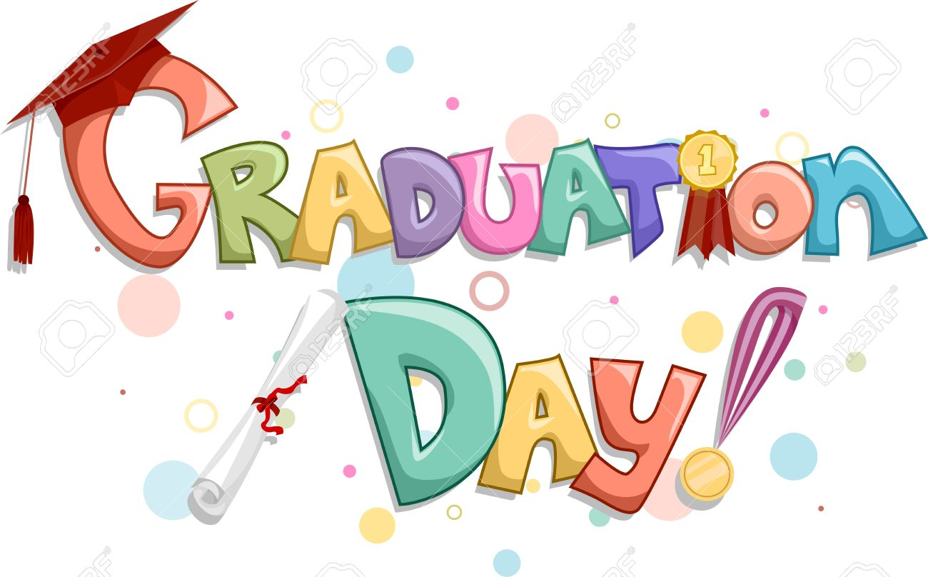 9256792 lettering of the words graduation day